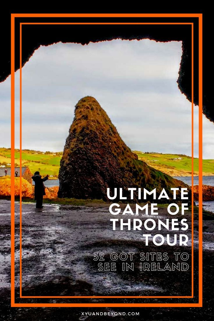 The Ultimate Game of Thrones Tour in Ireland, 31 sites to see on a self-guided tour. #ireland #gameofthrones #got #tourireland #irelandgameofthrones #irelandcausewaycoast #tourofdoorsireland via @https://www.pinterest.com/xyuandbeyond/