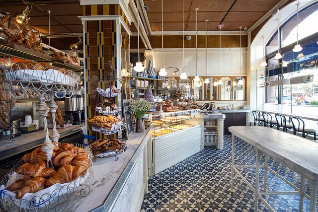 Love the tiles and marble countertops at Lafayette restaurant in NYC.
