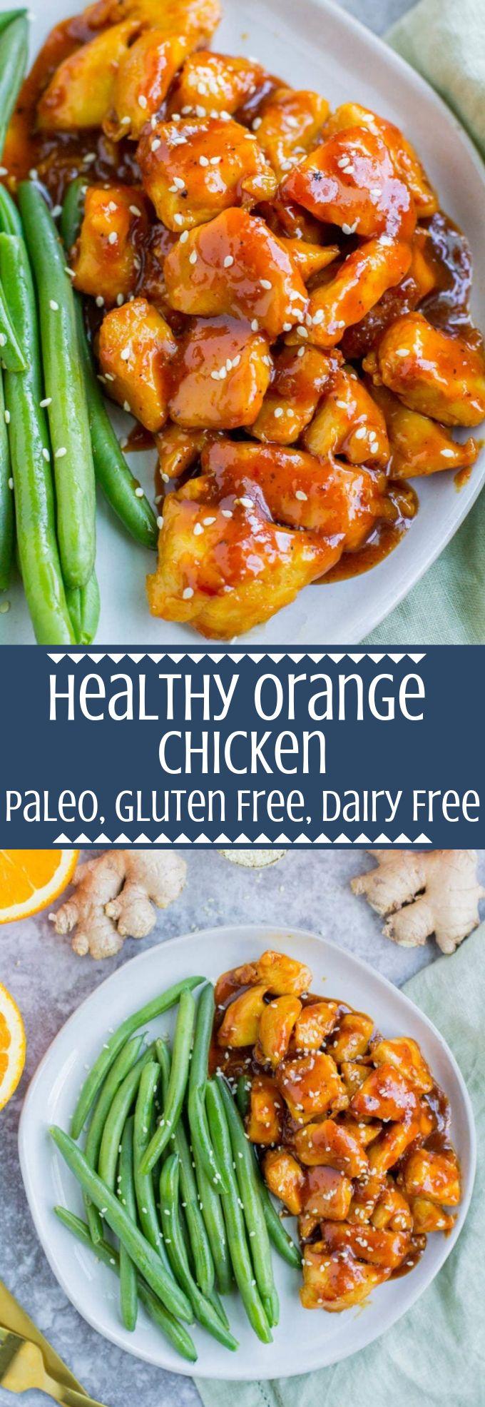 Pollo all'arancia sano