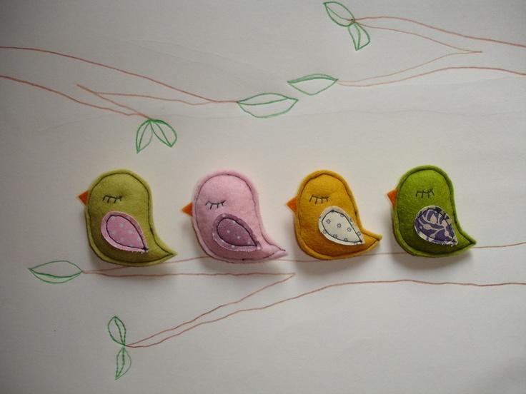 Süße Vogelanstecker
