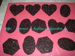 Resultado de imagen para čokoládové ozdoby na dorty postup