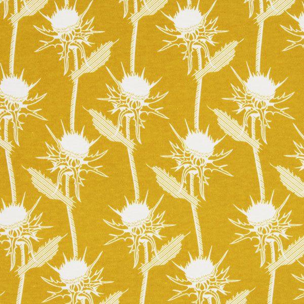 Free Spirit – Mary Thistle 3 - curry - More Jersey Fabrics - Children's Fabrics Girls - Anna Maria Horner - Yellow - myfabrics.co.uk