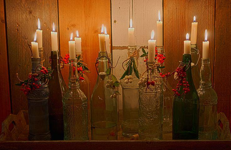 kaarsen in de fles