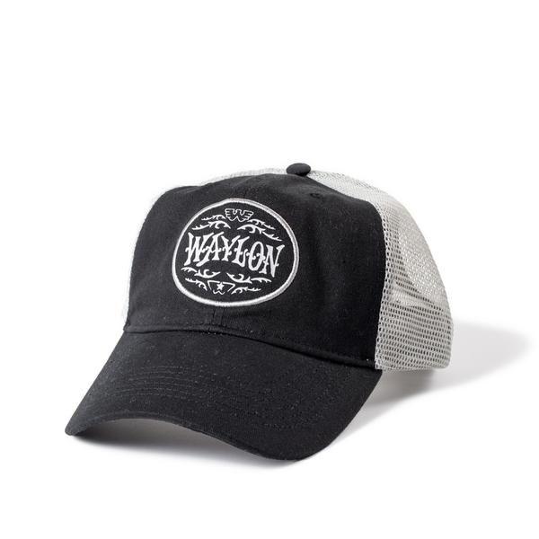 b180665c37809 Waylon Jennings Flying W Oval Logo Trucker Hat in 2019