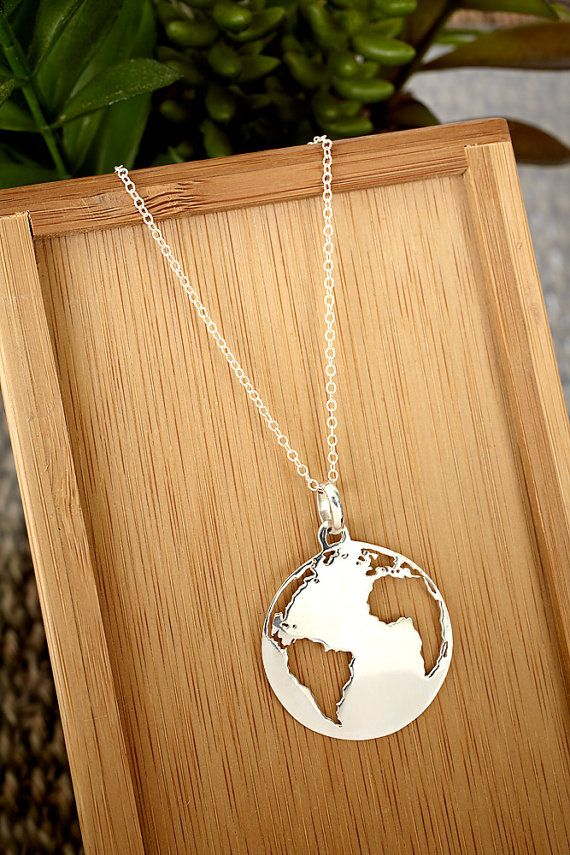 Make Your Mark Earth / Globe / World Necklace