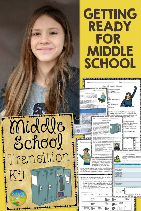 Middle school transition kit - aimed at helping kids learn critical skills they will need in middle school. Includes everything from navigating the hallways to developing a homework plan. Great for ALL students going to middle school.