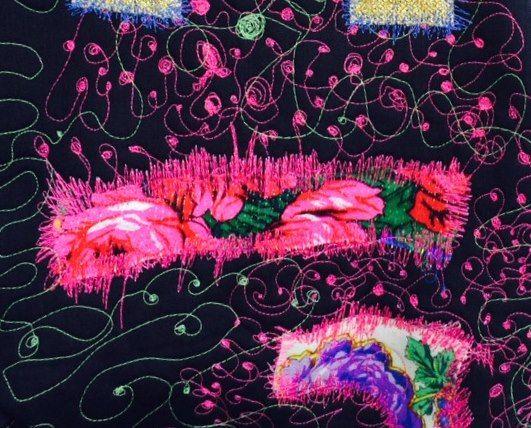 Romani Unique pink pattern 2015 gypsy roma style rose fashion textile rose inspiration hungary budapest