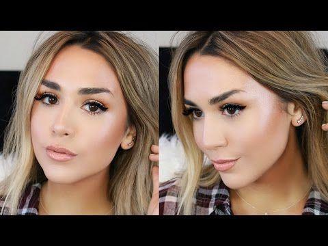 Glowing Dewy Foundation Routine | Dry Winter Skin Fix! - YouTube | Alexandrea Garza