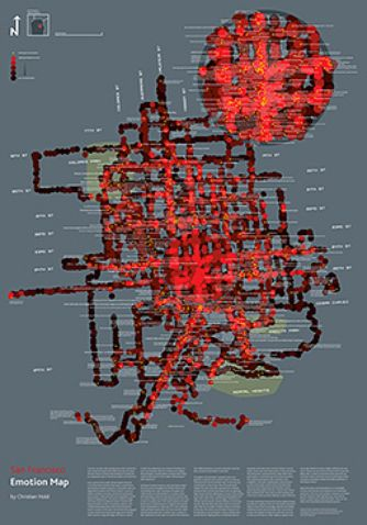 San Francisco Emotion Map - Christian Noid #Psychogeography