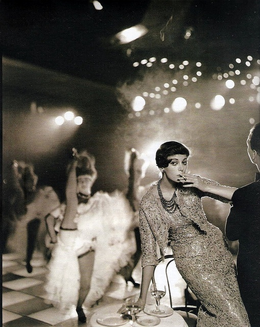 by Avedon for Harper's Bazaar at Folies Bergere, Paris, 1957