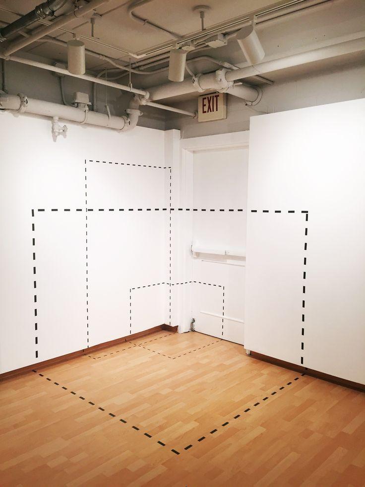 Wade Kramm, Dotted Space (Target Gallery Corner), Vinyl, 2016
