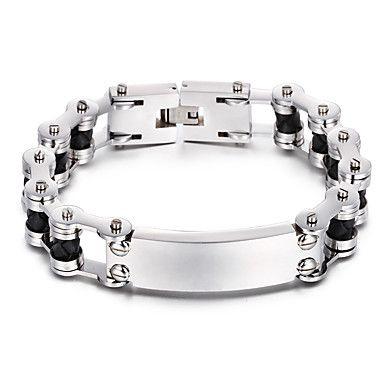 Homme Chaînes & Bracelets Acier inoxydable Mode Forme Géométrique Argent Bijoux 1pc de 5308009 2017 à €36.25