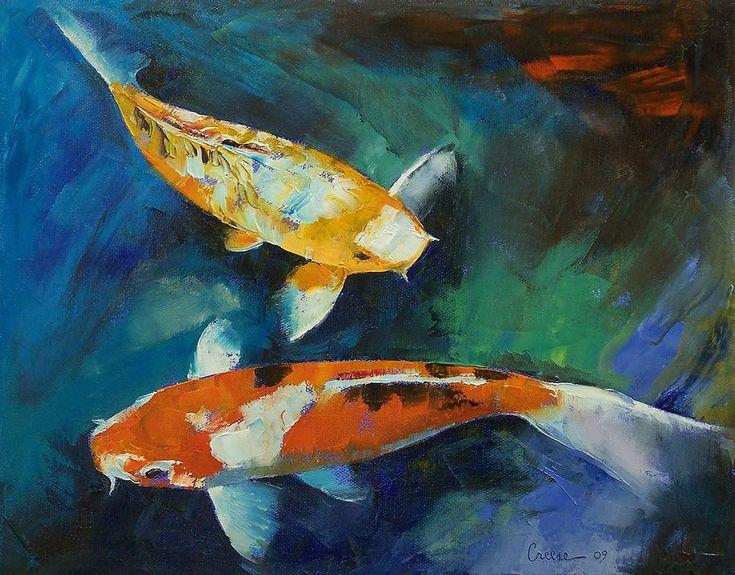19 best koi images on pinterest koi art goldfish and for Koi fish canvas art