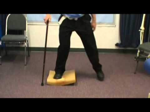 Stroke Balance Exercise using a Foam Pad at Home - YouTube