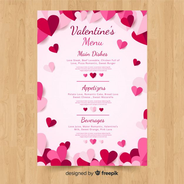 Download Valentine S Menu Template For Free Menu Template Valentines Printables Free Christmas Gift Certificate Template