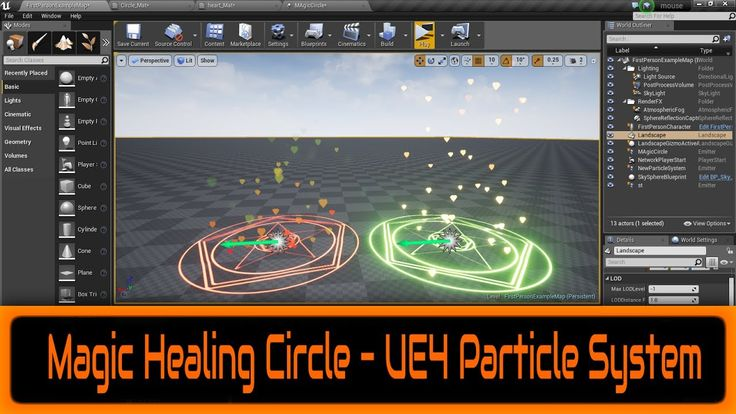 10 starter content particle systems