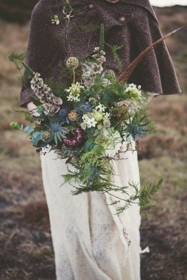 Wild Celtic Wedding Inspiration For A Winter Solstice Celebration