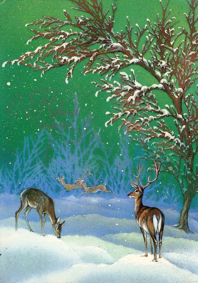 Новогодние открытки а исакова
