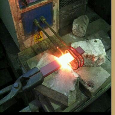 forging metal. induction forge forging metal