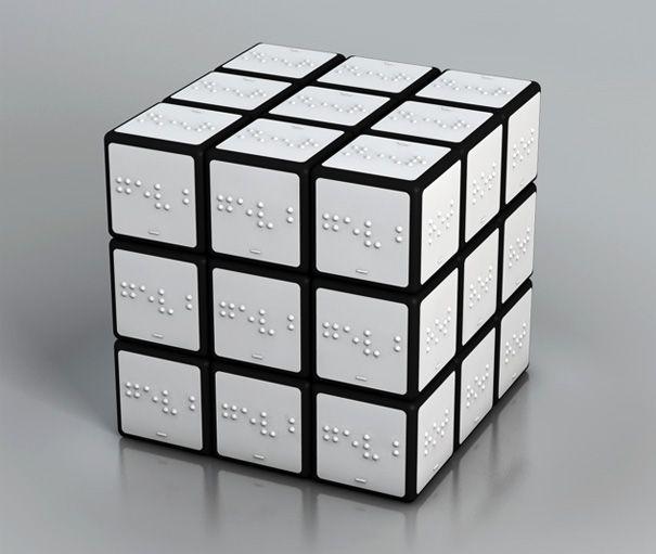 Braille Rubik's Cube... is well, brailliant!