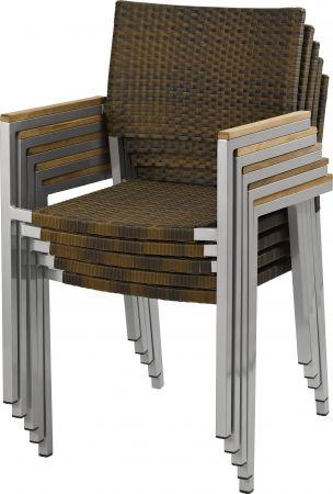 terrassenstuhl ella mit teakarmlehne in burned wickelung terrassenst hle outdoor st hle. Black Bedroom Furniture Sets. Home Design Ideas
