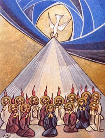 """As the Lord put on the body, leaving behind all principality and power, so Christians put on the Holy Spirit, and are at rest."" • St. Macarius the Great, ""Spiritual Homilies"" (Homily 26) #Pentecost #HolySpirit #Orthodoxy"