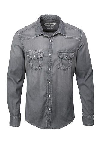 cowboy-style denim shirt