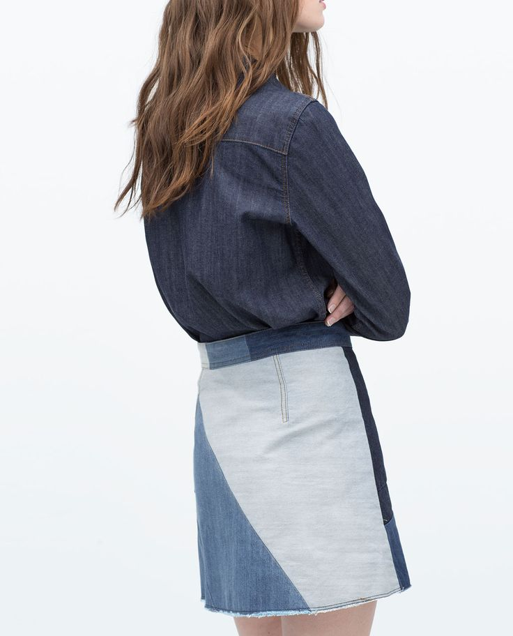 Image 4 of PATCHWORK MINISKIRT from Zara
