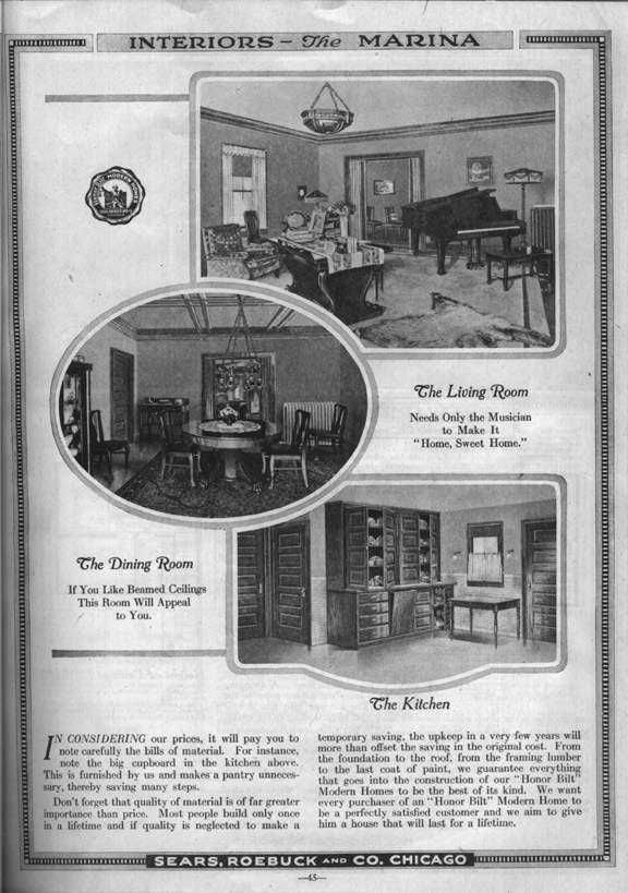 Bungalows Of Sears Roebuck 1917 Modern Homes Catalog Page 31 Available From 1917 To 1922