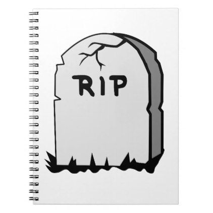 Rip Head stone Notebook - stones diy cyo gift idea special