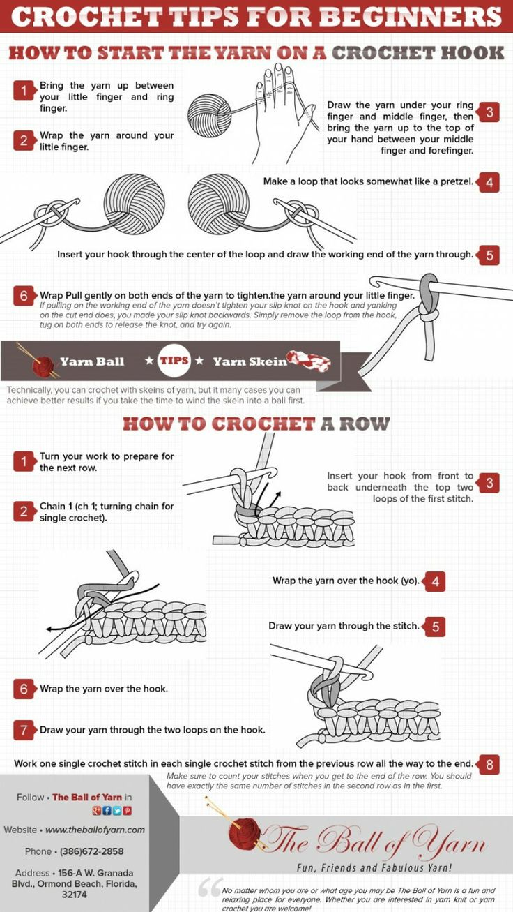 Knitting Styles For Beginners : Crochet tips for beginners knit pinterest