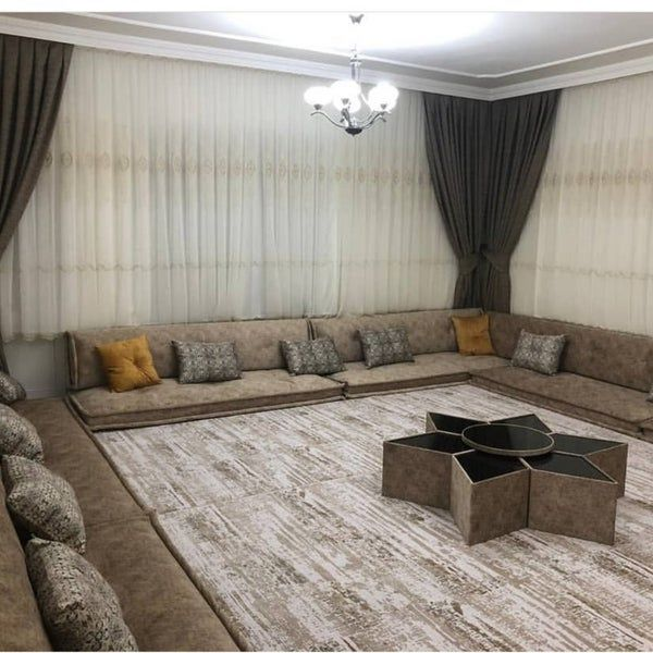 Gray Oriental Arabian Seating Set Etsy In 2020 Home Arabic Decor Room