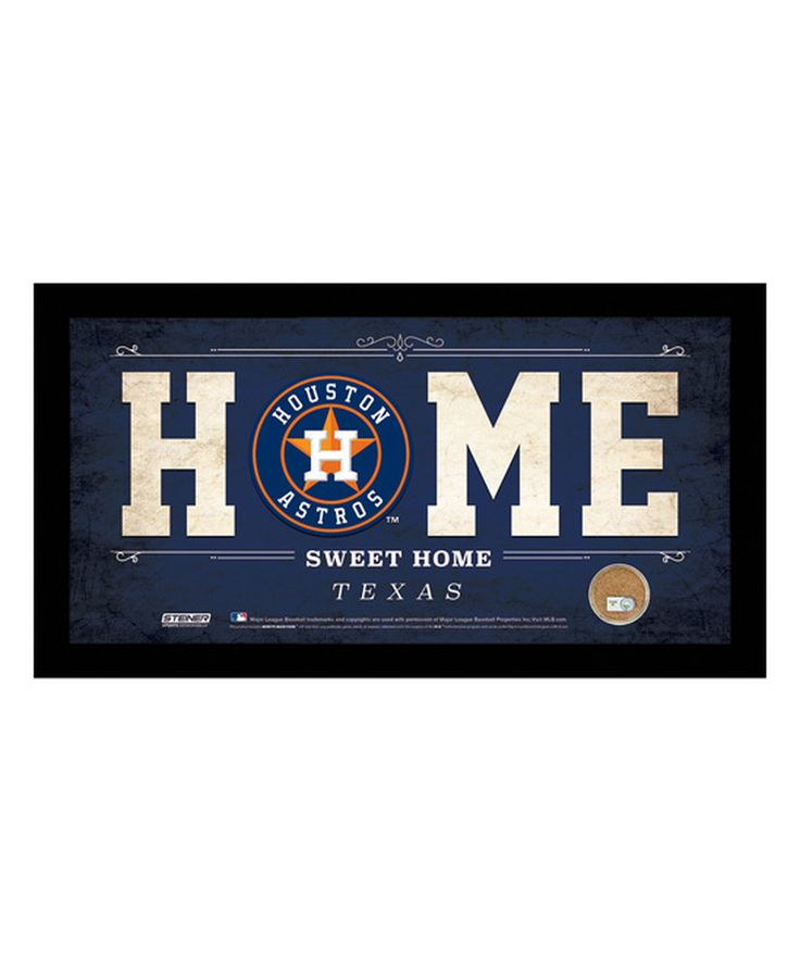 Houston Astros 'Home Sweet Home' Sign With Game Dirt by Steiner Sports Memorabilia #zulily #zulilyfinds