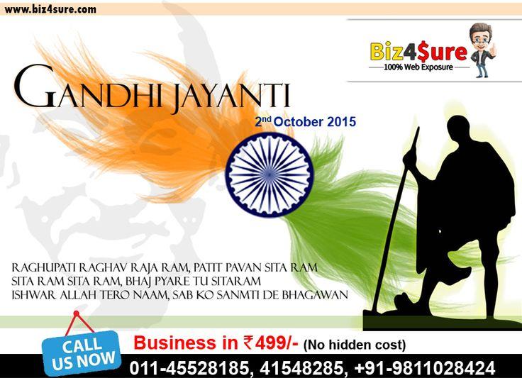 #Happy #Gandhi #Jayanti - 2 October (The #Father of #Nation) -> #Online #Marketplace in Karol Bagh #Delhi #NCR #India -> Create #Free #Website Services -> #Business Listing #Services -> #Grow Your Business With US +91-1125814379   +91-11-41548185   +91-11-45528185   +91-9811028424 #Raghupati #Raghav #Rajaram Patit Paavan #Sitaram #Ishwar #Allah Tere #Naam Sabko Sanmati de #Bhagwan.