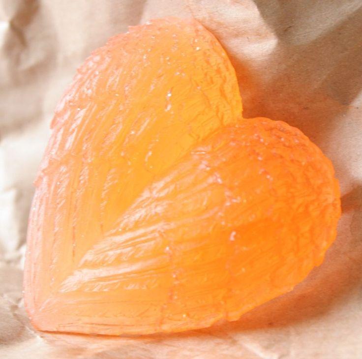 Aromatherapy Soap-Angel Fairy Wings Heart-Ginger,Black Pepper & Mandarin-Orange