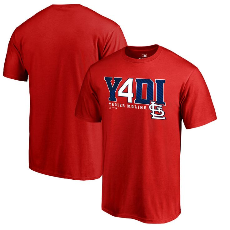 Yadier Molina St. Louis Cardinals Fanatics Branded Player Hometown Collection Big & Tall T-Shirt - Red