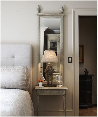 Mirrors behind nightstands - Tracery Interiors