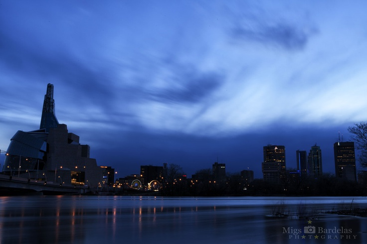 "Winnipeg skyline at night. 500px / Photo ""Winnipeg"" by Michael Bardelas"