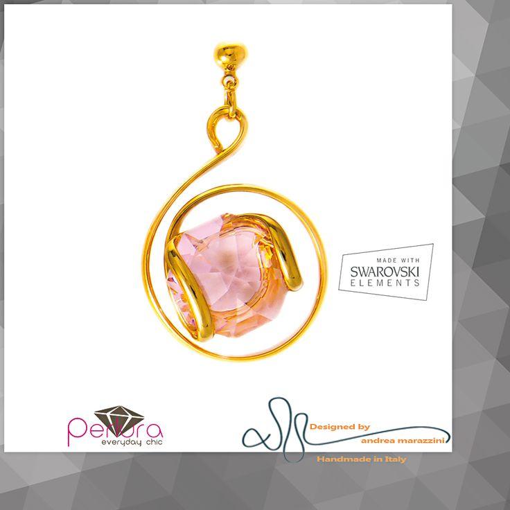 El cristal rosa representa la #piedra   de #nacimiento del mes de octubre. Un regalo ideal para #cumpleaños en el mes de Octubre. #Anillo, #Aretes y #Colgante #Marazzini con #Cristales #SWAROVSKIELEMENTS