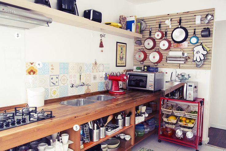 Cozinha linda! Daniel Diniz e Marcela Santarossa - Casa Aberta