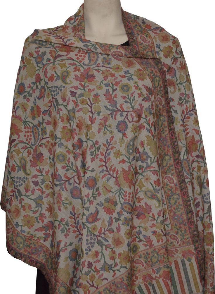 Dezinery - Pure Pashmina Kashmiri Shawl - Kani work, $200.00 (http://www.dezinery.com/pure-pashmina-kashmiri-shawl-kani-work/)