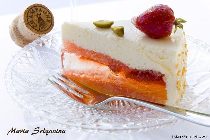 Торт-мусс Клубника в шампанском. 2 рецепта (4) (700x465, 212Kb)