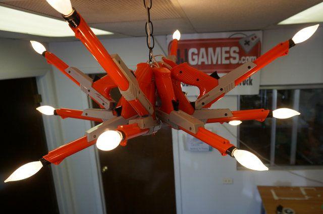 Duck Hunt Decor: Oldschool Nintendo Zapper Chandelier