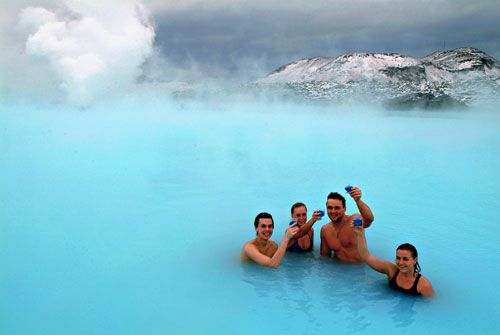 The Blue Lagoon- Iceland- How cool would it be to relax in this nice warm lagoon with snow all around.