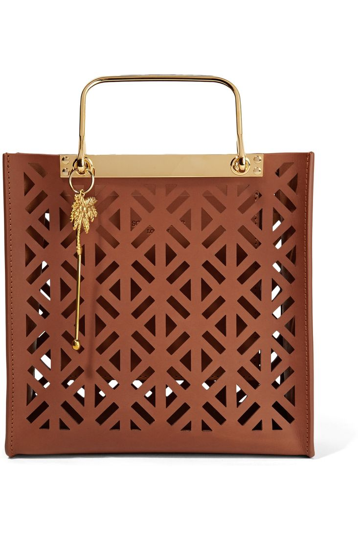 SOPHIE HULME Dora Laser-Cut Leather Tote Bag.