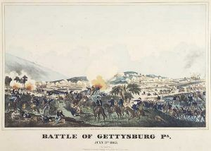 Illustration of the Battle of Gettysburg