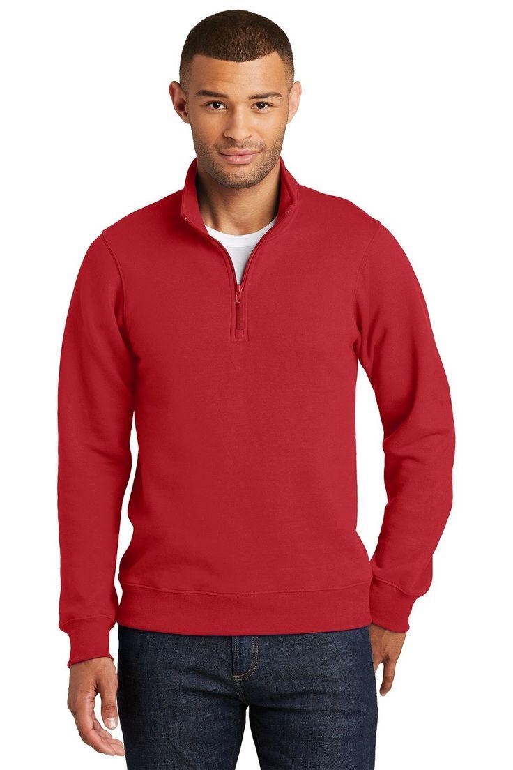 Port & Company Fan Favorite Fleece 1/4-Zip Pullover Sweatshirt. PC850Q True Roya