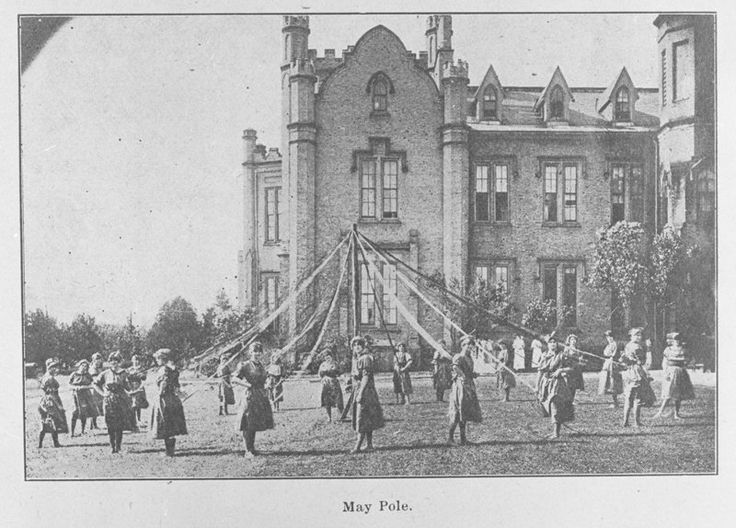 May Pole Dance at Ontario Ladies' College, May 1914