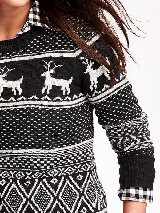 Old navy reindeer sweater