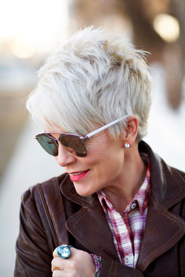 Best Sexy Short Hair Styles Images On Pinterest - Silver hair styles